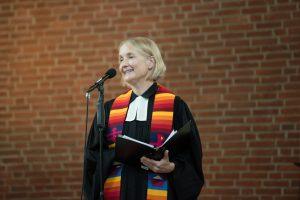 Pastorin Anja Vollendorf bei ihrer Einführung am 18. Juni 2021