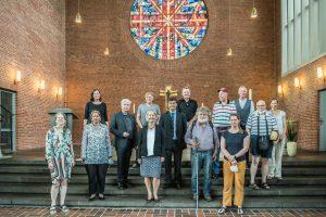 Personengruppe der Beteiligten bei der Einführung von Pastorin Anja Vollendorf.